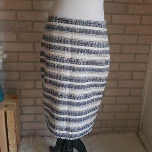 Ann Taylor Striped Skirt Size 4